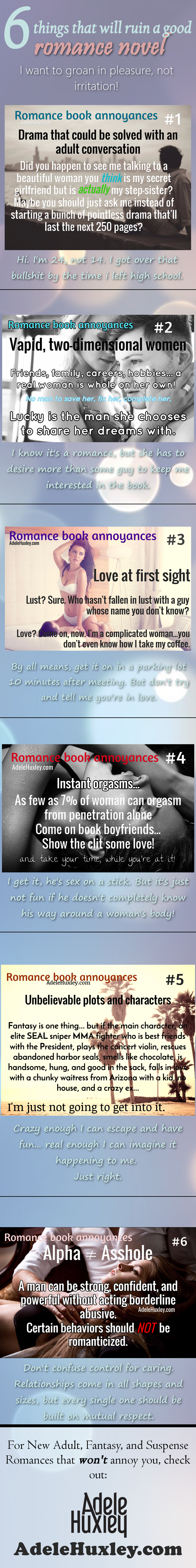 6 things that will ruin a good romance novel